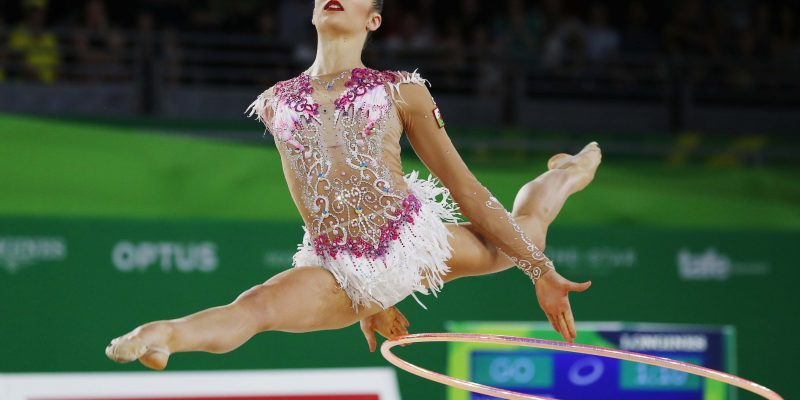 Rhythmic Gymnastics - Gold Coast 2018 Commonwealth Games - Individual Hoop Final - Coomera Indoor Sports Centre - Gold Coast, Australia - April 13, 2018. Laura Halford of Wales. REUTERS/David Gray