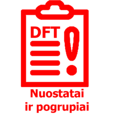 DFT nuostatai ir pogrupiai